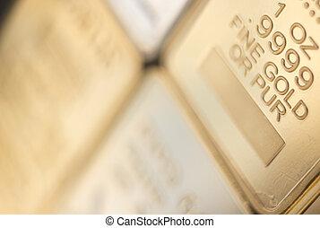 Gold bullion ingot bar - Gold bullion 999.9 purity solid one...