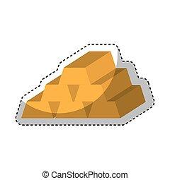 gold bullion isolated icon vector illustration design