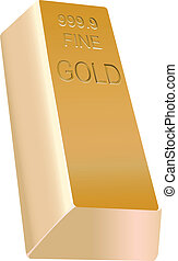 Gold bullion - Large gold bullion in a traditional form....