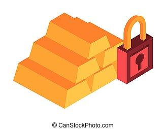 gold bullion pyramid isolated icon vector illustration ...