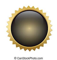 Gold button shiny metallic