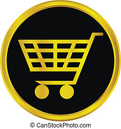 Gold buy sign button