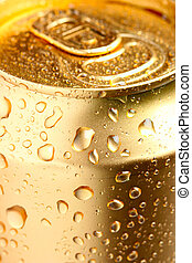 Gold can of drink