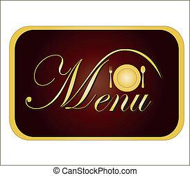 gold card menu. vector illustration