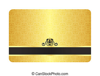 Exclusive gold card with vintage floral pattern