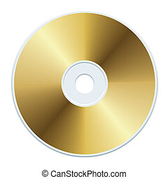 Blank gold compact disc