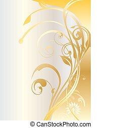 Gold celebration banner