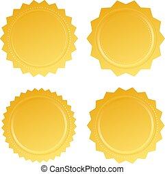 Gold certificate seal