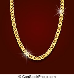 gold chain in the form of obesity or bracelet