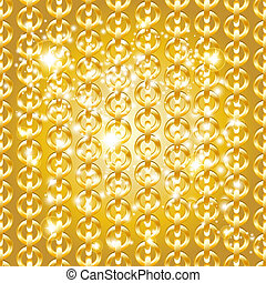 Gold chain seamless abstract pattern.