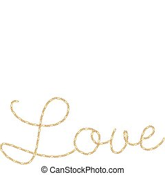 Gold Chain Word Love