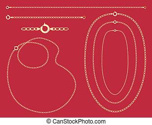 Gold Chains, Necklaces, Bracelet - Gold chains, necklaces,...