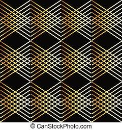 Gold Checkered pattern diagonal.