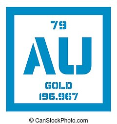 Periodic table element gold icon periodic table element vectors gold chemical element urtaz Images