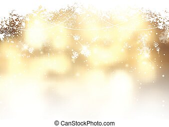 gold christmas background with snowflakes 1311