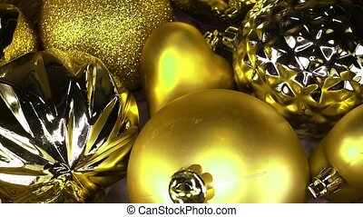 Gold Christmas bauble ball baubles balls ornaments xmas...