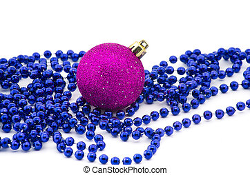 christmas beads with bauble