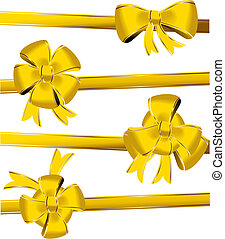 Gold christmas bow decoration