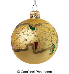 Gold christmas decoration ball