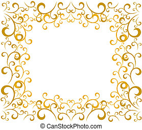 gold christmas border holly berry border on a yellow polygonal