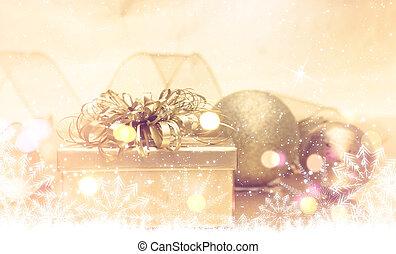 Gold Christmas gift
