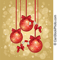 gold christmas greeting card