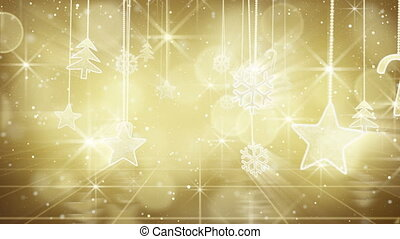 gold christmas hanging decorations