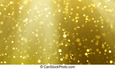 Gold Christmas light particle background loop