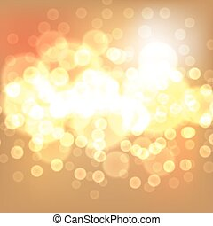 Gold christmas lights background. EPS10 vector.