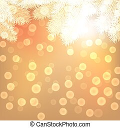 Gold christmas lights background