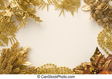 Gold Christmas material
