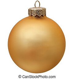 gold christmas ornament .