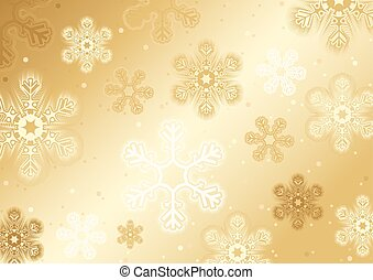 Gold Christmas Snowflakes