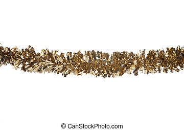 gold christmas tinsel border cutout