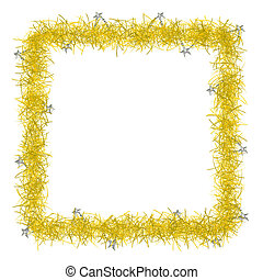 christmas tinsel texture background blank for text - gold...