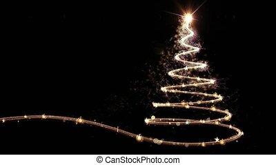 Gold Christmas tree animation