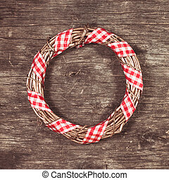 Gold Christmas wreath