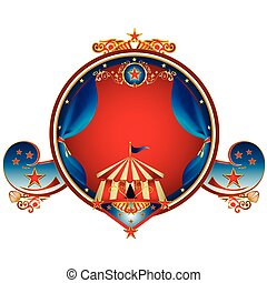 Gold circus stamp