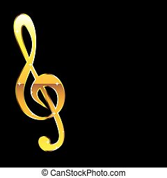 Gold Clef Music Key