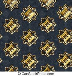 Gold cloth seamless pattern.