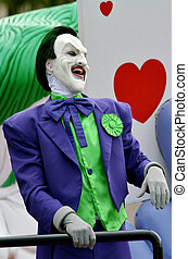 GOLD COAST, AUS - NOV 06 2014:The Joker in Movie World Gold Coast Australia. It's one of the most iconic characters in popular culture and the greatest comic book fictional villain ever created.