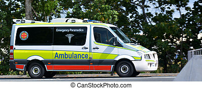 Australian Ambulance - GOLD COAST, AUS - NOV 07...