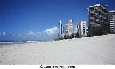 Gold Coast Beach. Surfers Paradise.