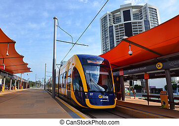 Gold Coast Light Rail G -Queensland Australia - BROADBEACH,...