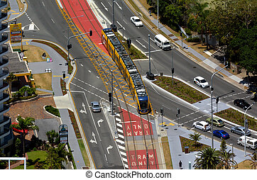 Gold Coast Light Rail G -Queensland Australia - GOLD COAST,...