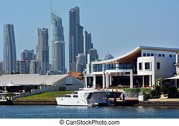 Jackie chan luxury holiday home - GOLD COAST - OCT 23 2014:...