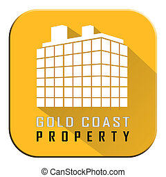 Gold Coast Property Building Depicts Surfers Paradise Real Estate - 3d Illustration