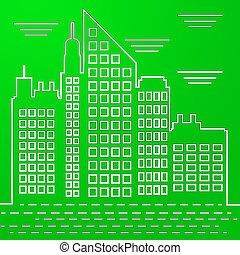 Gold Coast Property City Depicts Surfers Paradise Real Estate - 3d Illustration