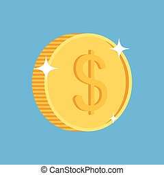 gold coin icon with dollar symbol