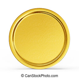 gold coin isolated on a white background. 3d illustration